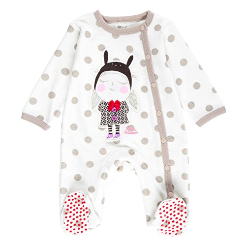Boboli Velour Play Suit For Baby, Body Bimbo, Beige (Print 9294), 3 mesi