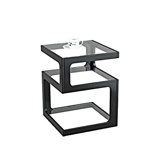 ASPECT Rossini Triple Level Side Coffee End Lamp Table (Black), Wood 40 x 40 x 52 cm