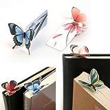 Kimberleystore 20pz creativo farfalla segnalibro decorazione (colore casuale e modello)