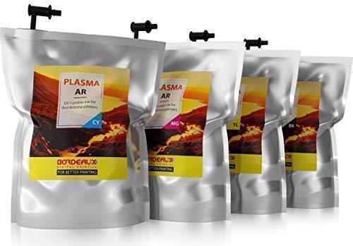 Bordeaux Plasma AR UV-härtende Tinte für Oce Arizona IJC-256, 1 Liter-Tintenbeutel (White) - 1l Flush
