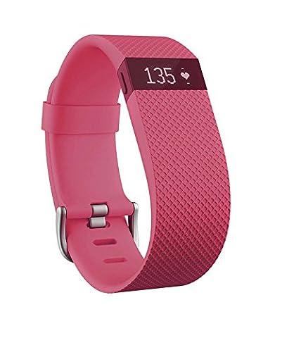 Fitbit Charge HR Bracelet tracker d'activités/sommeil Rose Taille
