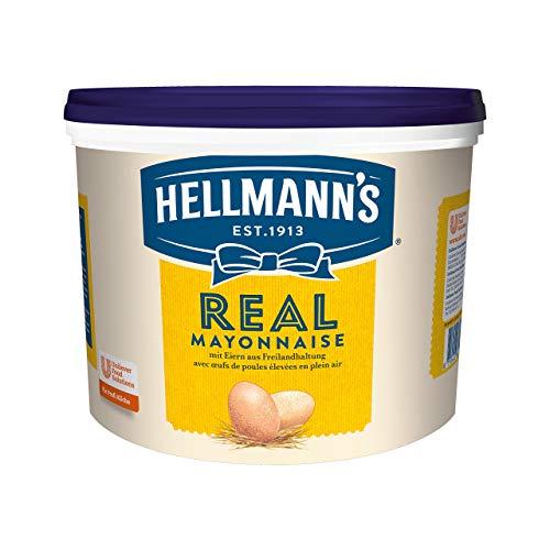 Hellmann\'s Real Mayonnaise (mit Rapsöl, ideal als Pommes und Burger Sauce und für Salat Dressings) 1er Pack (1 x 5L)
