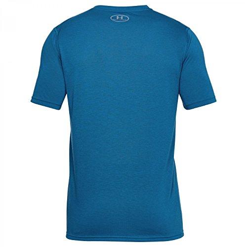 Under Armour Herren Threadborne Fitted Shortsleeve Shirt MOROCCAN BLUE/GRAPHITE