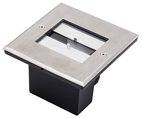Konstsmide angolo regolabile luce spot da terra, alta potenza 6W LED in alluminio, argento