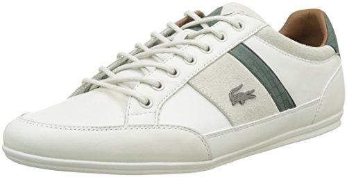 Hohe Große Lacoste (Lacoste Herren Chaymon 417 1 Cam Off Sneakers, Weiß (Wht/Grn), 44.5 EU)