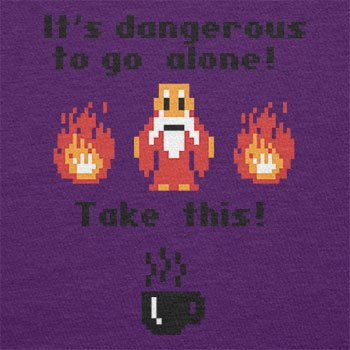 TEXLAB - Take this Coffee - Herren T-Shirt Violett