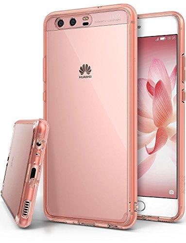 Ringke Fusion Custodia Compatibile con Huawei P10, [Fusion] Puro Sottile Trasparente PC Assorbimento Urti TPU Custodia Cover Huawei P10 - Rose Gold