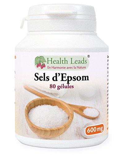 Sels d'Epsom 600mg x 80 capsules (100% sans additif)