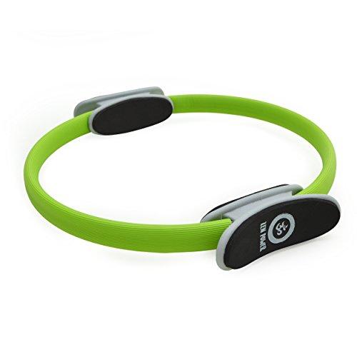 Zen Power Pilates Ring / Yoga Ring - Trainingsgerät für ein effektives Kraft- und Widerstandstraining, Circle mit 38cm Durchmesser, Farbe Grün