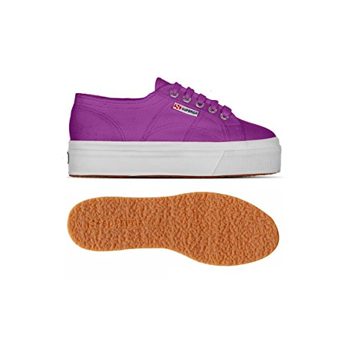 Superga 2790-Acotw Linea Up And Down, Chaussons Sneaker Adulte Mixte Multicolore - Dahlia