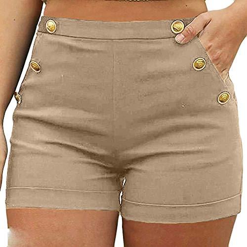 Short Femmes,ITISME Mode Été Hot Pantalons Femmes Dentelle Grande Taille Corde Attacher Shorts de Yoga Pantalons de SportJambières S-5XL (M, Z-Kaki)