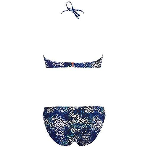 Chiemsee Damen Ebony Bandeau Bikini Party Animal Blue
