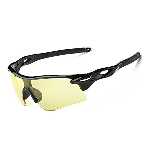 Z-P Fashion Men's Sports Style Riding Driving Windproof Vision Night Ultra Wide Sunglasses 80MM