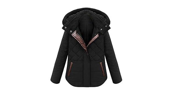 b85b49c936 Eozy Hiver Manteau Court Chaud Manteau à Capuche Épais Doudoune Femme Noir ( Noir): Amazon.fr: Vêtements et accessoires