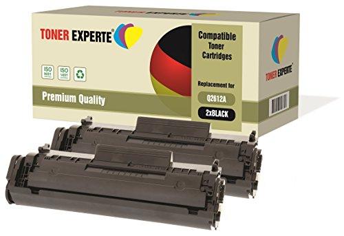 2-er Pack TONER EXPERTE® Premium Toner kompatibel zu Q2612A 12A für HP Laserjet 1010, 1012, 1015, 1018, 1020, 1020+, 1022, 1022N, 1022NW, 3010, 3015, 3020, 3030, 3050, 3052, 3055, M1005 MFP, M1319F MFP (Hp Laser-drucker 3050)