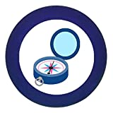 Türknauf Möbelknopf Möbelgriff Möbelknauf Jungen hellblau dunkelblau blau Massivholz Buche - Kinder Kinderzimmer Kompass blau dunkelblau maritim- dunkelblau