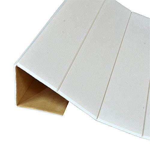 2STÜCKE 3D Holz Wandaufkleber Ausgangsdekor PE Schaum Wasserdichte Wandverkleidung Selbstklebende Tapete Für Wohnzimmer Schlafzimmer 3D Wandtafel, 02 70x77 cm