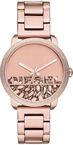 Diesel DZ5588 Flare Rocks Uhr Damenuhr Edelstahl vergoldet 5 bar Analog Rose