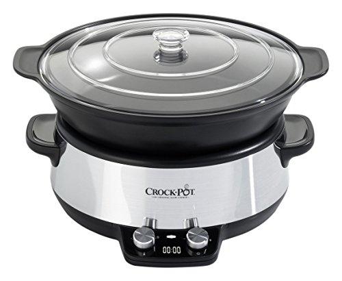 Crock-pot - CSC011X-01 - Mijoteuse électrique programmable - Sauteuse - Noir/Inox 6 L