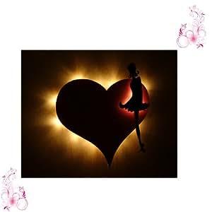 Lampe *love heart lampe érotique sex de chambre à coucher avec votre gravure