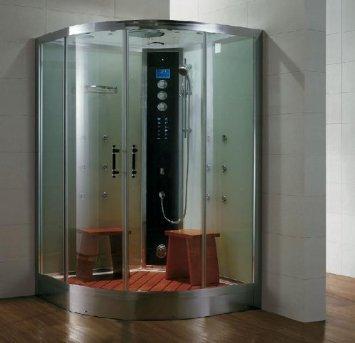 Dampfdusche/Wellnessdusche AQUALINE WS105S6 1200 x 1200 x 2240mm Rückwandfarbe: silber