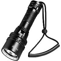 Torcia Subacquea, Super Luminoso Torcia per Immersioni Subacquee, LED Luce Ricaricabile Impermeabile Fino a 80M Sott'Acqua