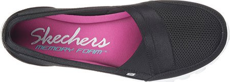 Skechers Ez Flex 2 Quipster, Baskets Basses Femme Blk Wht