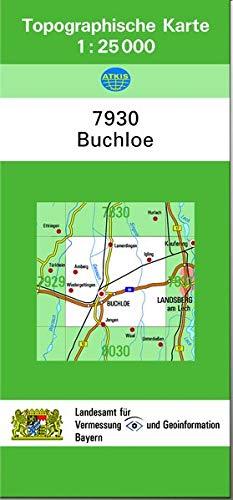 TK25 7930 Buchloe: Topographische Karte 1:25000 (TK25 Topographische Karte 1:25000 Bayern)