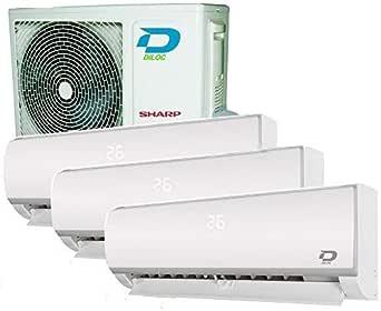 CLIMATISEUR WIFI 3 MULTI SPLIT DILOC 3,2+3,2+3,2Kw compresseur SHARP INVERTER