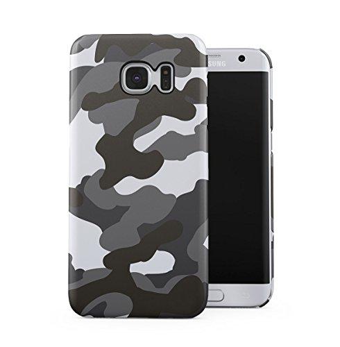 Grau Snow Camouflage Camo Dünne Handy Schutzhülle Hardcase Aus Hartplastik Hülle für Samsung Galaxy S6 Edge Handyhülle Case Cover