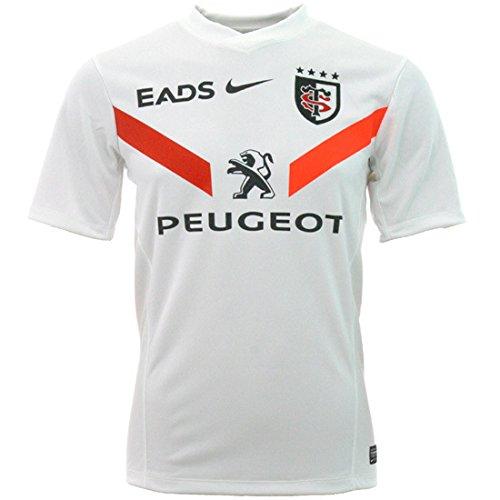 Toulouse 2012/13 Maillot de Rugby Réplique Alterné Manches Courtes Blanc/Noir