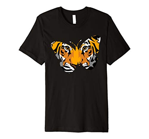 Schmetterling Tiger Geschenk T-Shirts, Löwe Butter Fly Cute ()