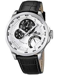 234504b75598 Lotus 15846 1 - Reloj analógico de Cuarzo para Hombre con Correa de Piel