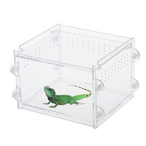 taonmeisu transparent Acryl Aquarium Fisch Tank Reptile Insekten Goldfish Käfig Carry House