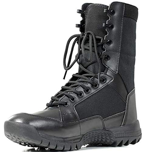 Wangxyan Men Tactical Army Boots Patrol Militärschuhe Work Utility Footwear Kampfstiefel für alle Gelände Mountain Boot Leichte atmungsaktive,Schwarz,40 All-mountain Mountain Boot