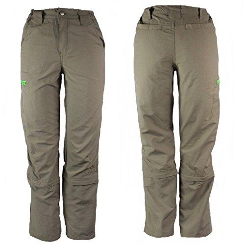 Crivit Outdoor pantaloni da Trekking ragazzo Zip Off Beige 7/8 anni