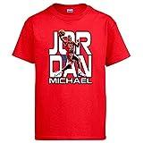 Camiseta Michael Jordan Leyenda del Baloncesto - Rojo, 9-11 años