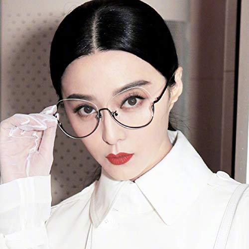 Die ursprüngliche Nacht belebt Alten Bräuchen eine transparente Brille Frame of Half Frame weiblich zusammen Stil der Brille Han Ban Chao ins Gesicht ohne Make-up Absolute Maschine