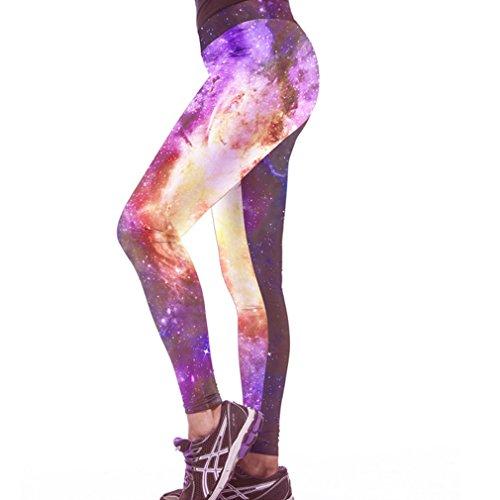 Belsen Damen Leggings mehrfarbig tiger M Fire Star