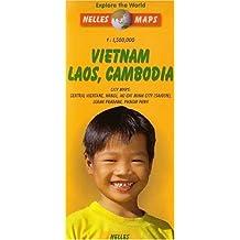 Vietnam, Laos, Cambodia - City maps : Central Vientane, Hanoi, Ho Chi Minh City (Saigon), Luang Prabang, Phnom Penh : 1/1500000