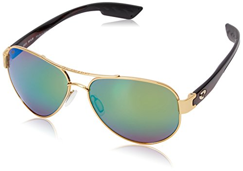 Costa del Mar South Point Polarized Iridium Aviator Sunglasses Gold 59.0 mm