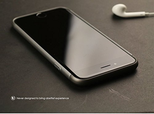 Für iPhone 6 Plus / 6s Plus Hülle, Vandot PC Hart Case Cover mit Ring Ständer Stand 360 Fulll Body Schutzhülle mit Rutschfeste Anti-Kratzer Taschen Schalen Slim Electroplate Metall Protektiv Matt Hand Aufbau Grau