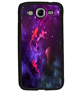 PRINTVISA Premium Metallic Insert Back Case Cover for Samsung Galaxy Mega 5.8 - D5642
