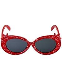 Stoln Kids sunglasses Retro Style Queen Design Girls Designer Kids Sunglasses Black Glass Red Frame