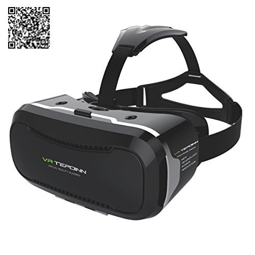 3D VR Brille Headset mit verstellbarem Objektiv und Strap für 3,5-14 Smart Handys Upgraded Version