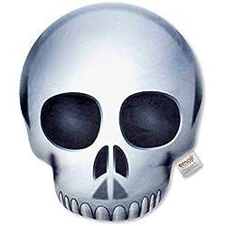 Emoji- Cojín Impreso Calavera Poop Oficial (PIW_Skull_PT)