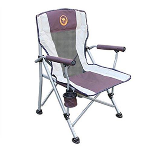 Dailyinshop Desertcamel Verdicken Harten Seat Portable im Freien faltender Lehnsessel-Fischen-Stuhl (Farbe: Kaffee)