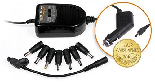 Media-Tech MT6250 Universal Notebook Netzteil KFZ Auto-Ladegerät Autoadapter 12V