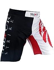 MMA Fight Shorts y#x2605; UFC PRO jaula de Muay Thai Kick Boxing boxeo artes marciales uniforme y#x2605; Lucha patada corta ropa - valor huelga red,black,white Talla:42 pulgadas