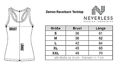 Damen Tank Top Anker Vintage Wellen minimalistisch Racerback Tanktop Neverless®